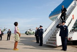 First Lady Michelle Obama Waits to Greet the President Obama at JFK Airport in Nyc. June 14, 2012 Photo