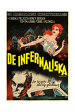 Carnival of Souls, (AKA De Infernaliska), Swedish Poster Art, Candace Hilligoss (Top), 1962 Giclee Print