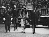 President Calvin Coolidge and First Lady Grace Coolidge Arrive at a Wedding, May 14, 1924 Photo