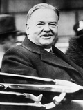 President Herbert Hoover Smiling from an Open Car as He Attended the American Legion Convention Photo