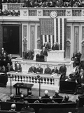 President Calvin Coolidge Delivering His First Message to Congress on Dec. 6, 1923 Photo