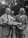President Calvin Coolidge Examines a Model Airplane, Presented by Aviator Eddie Rickenbacker Photo