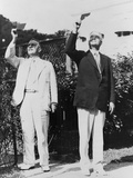 President Herbert Hoover and Lawrence Richey Watching a Solar Eclipse Through Smoked Glass Photo