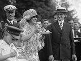 President Calvin Coolidge and First Lady Grace Coolidge at a White House Garden Party Photo