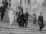 President Calvin Coolidge and the First Lady Leave the Capitol after Warren Harding Funeral Photo