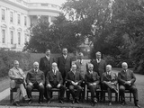 President Calvin Coolidge with His Cabinet, Sept. 11, 1923 Photo