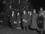 President Calvin Coolidge and First Lady Grace at the Lighting of the National Christmas Tree Photo