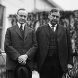 President Calvin Coolidge with His New Attorney General Harlan Fiske Stone in 1924 Photo