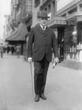 Senator Warren Harding Walking on a Washington, D Photo