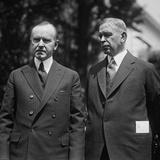 President Calvin Coolidge with Hubert Work, Secretary of the Interior Photo