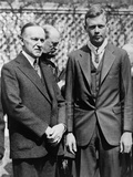 President Calvin Coolidge with Medal of Honor Recipient, Charles Lindbergh Photo
