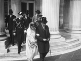 President Warren Harding and First Lady Florence Kling Harding Leaving Continental Hall Photo
