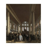 Portuguese Synagogue in Amsterdam, 1680 Giclee Print by Emanuel de Witte
