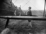 President Calvin Coolidge Inspecting One of the First-Around-The-World Flight Airplanes Photo