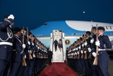 President Barack Obama and First Lady Michelle Obama Departing Berlin, Germany Foto