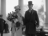President Calvin Coolidge and First Lady Grace Coolidge on Inauguration Day Photo