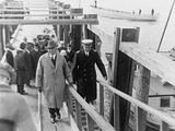 President Warren Harding Boarding a Ship During His Alaska Tour, July 1923 Photo