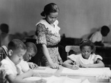 Children's Class at the Harlem Art Workshop, at the New York Public Library, 135th St Photo