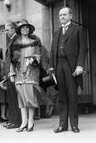 President Calvin Coolidge and First Lady Grace Coolidge Attending Easter Services. April 17, 1927 Photo