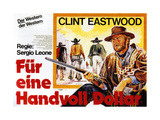 A Fistful of Dollars (AKA Per Un Pugno Di Dollari), Clint Eastwood (Facing Front), 1964 Giclee Print