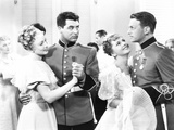 Gunga Din, from Left: Ann Evers, Cary Grant, Joan Fontaine, Douglas Fairbanks Jr., 1939 Photo