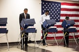 President Obama Votes at Martin Luther King Jr. Community Center in Chicago, Illinois Photo