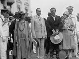 President Calvin Coolidge and the First Lady with Cowboy Actor Tom Mix and Victoria Forde Mix Photo