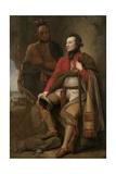 Colonel Guy Johnson and Karonghyontye (Captain David Hill), 1776 Giclee Print by Benjamin West