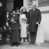 President-Elect Warren Harding with His Wife, Florence (Left), and Evalyn Walsh Mclean Photo
