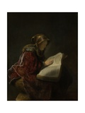 Old Woman Reading, Probably the Prophetess Hannah, 1631 Giclee Print by  Rembrandt van Rijn