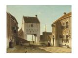 A Town Gate in Leerdam, C. 1868-70 Giclee Print by Jan Weissenbruch