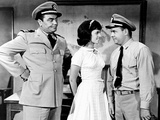 Mchale's Navy, from Left, Ernest Borgnine, Claudine Longet, Tim Conway, 1964 Photo