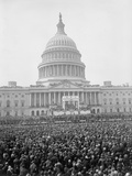 The Capitol and Crowd at the March 4, 1925 Inauguration of President Calvin Coolidge Photo