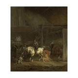 Horse Stable, by Joseph Moerenhout, C. 1830-40 Giclee Print by Joseph Moerenhout