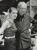 Film Producer, Sir Alexander Korda with His Fiancee Alexandra Boycun, June 3, 1953 Photo