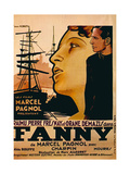 Fanny, from Left: Orane Demazis, Pierre Fresnay, 1932 Giclee Print