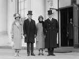 President Calvin Coolidge and VP Charles Dawes with their Wives on Inauguration Day Photo