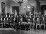 President Coolidge Signs Kellogg Treaty in the East Room of the White House on Jan. 17, 1929 Photo