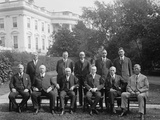 President Calvin Coolidge with His Cabinet, Oct. 13, 1925 Photo