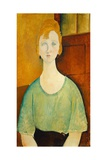Girl in a Green Blouse, 1917 Giclee Print by Amedeo Modigliani