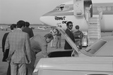 Jimmy Carter Retrieving His Luggage from a Car before Boarding 'Peanut One' Campaign Airplane Photo