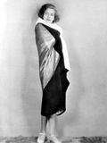 Torrent, Greta Garbo, Modeling an Evening Wrap Gold Metal Cloth and Black Velvet, 1926 Photo