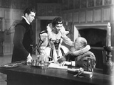 Fire over England, from Left: Laurence Olivier, Vivien Leigh, Morton Selten, 1937 Photo