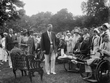 President Herbert Hoover and the First Lady at a White House Reception for Veterans, June 27, 1929 Photo