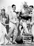 Springtime in the Rockies, from Left, Betty Grable, John Payne, Carmen Miranda, Cesar Romero, 1942 Photo