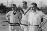 Tennis Champions Vincent Richards, Bill Tilden, and Bill Johnston in the 1920s Photo