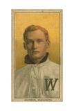 Baseball Card of Walter Johnson, Washington Senators, by the American Tobacco Company, 1909-11 Giclee Print