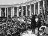 President Herbert Hoover Speaking in the Arlington Amphitheater on Memorial Day, May 30, 1029 Photo
