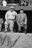 Babe Ruth in a Ny Giants Uniform with Giants Manager John Mcgraw, Oct. 23, 1923 Photo
