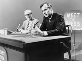George H. W. Bush on 'Meet the Press' TV Program in 1971 Photo